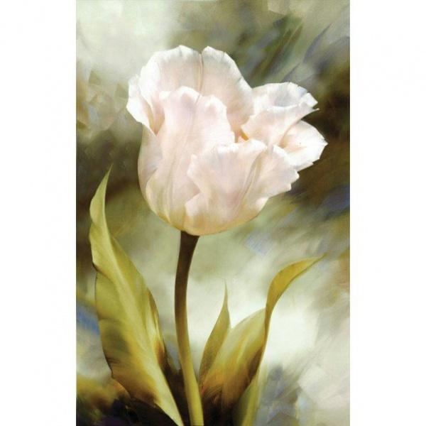 """7040-3D """"Белый тюльпан"""" 3D"""