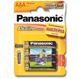Батарейки Panasonic LR3 ААА Alkaline Power «Angry Birds»