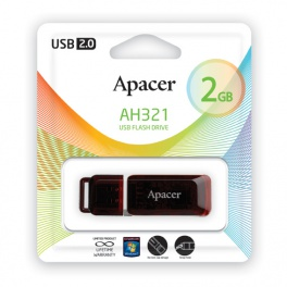 Флешка 2 Gb Apacer AH321 Red